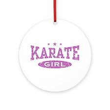 Karate Girl Ornament (Round)