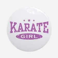 Karate Girl Ornament (Round)
