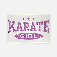 Karate Girl Rectangle Magnet