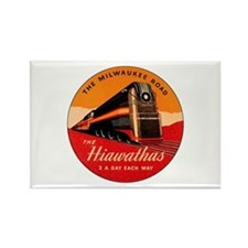 Milwaukee Road Passenger Train Rectangle Magnet