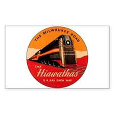 Milwaukee Road Passenger Train Rectangle Decal