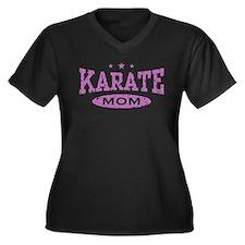 Karate Mom Women's Plus Size V-Neck Dark T-Shirt