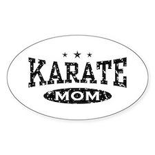 Karate Mom Oval Decal