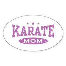 Karate Mom Oval Decal