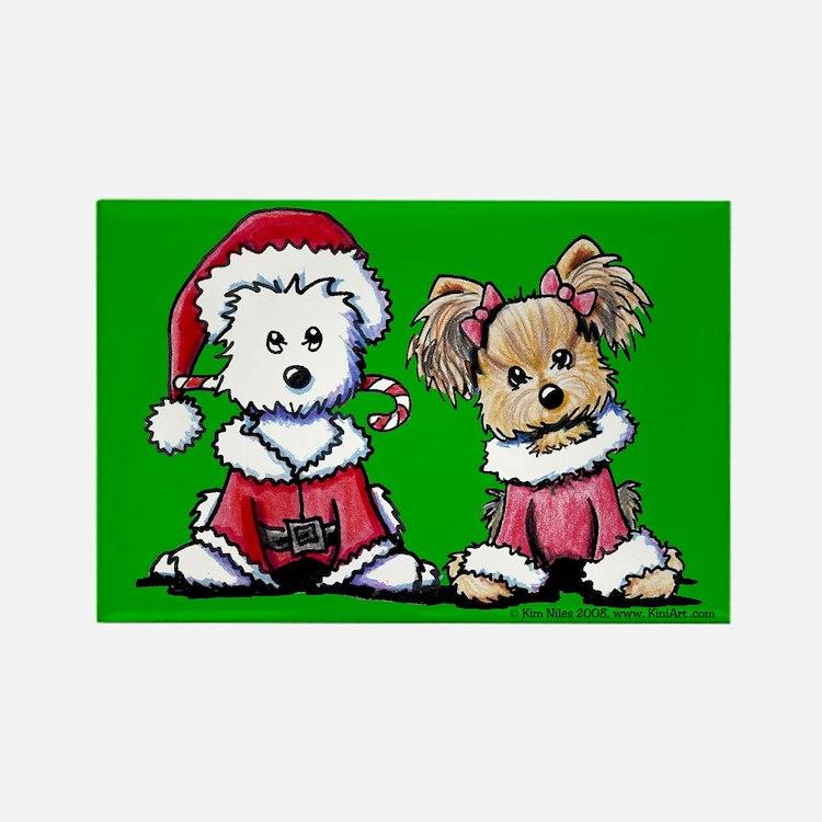 Mr. & Mrs. Santa Paws Rectangle Magnet