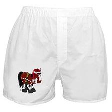 Don't Ask Christmas Horse Boxer Shorts