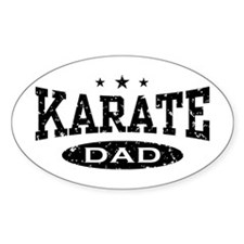 Karate Dad Oval Decal