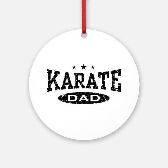 Karate Dad Ornament (Round)