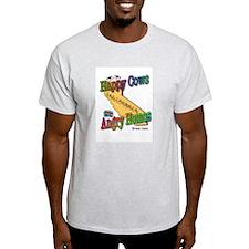 No on 8 Happy Cows/Angry Homo T-Shirt T-Shirt
