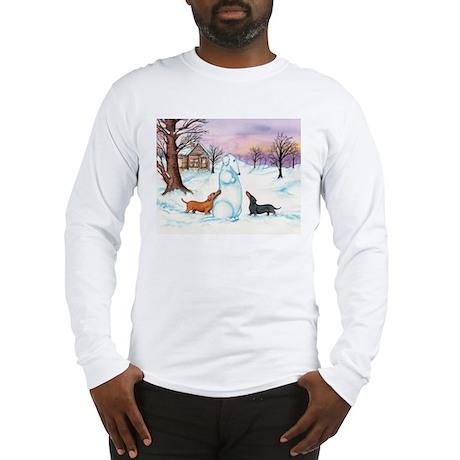 Snow Dachshunds Long Sleeve T-Shirt