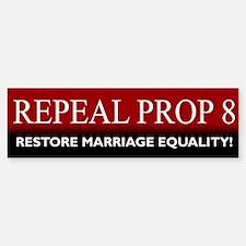 Repeal Prop 8 (Red) Bumper Bumper Bumper Sticker
