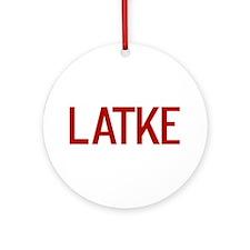Latke Ornament (Round)