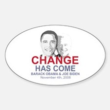 OBAMA SHOPS: Oval Decal