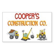 Cooper's Construction Tractor Rectangle Decal