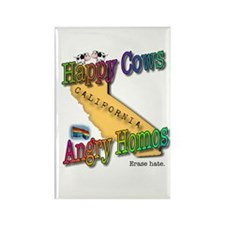 Funny Happycow Rectangle Magnet