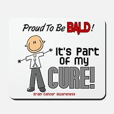 Bald 1 Brain Cancer (SFT) Mousepad