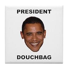 President Douchebag Tile Coaster