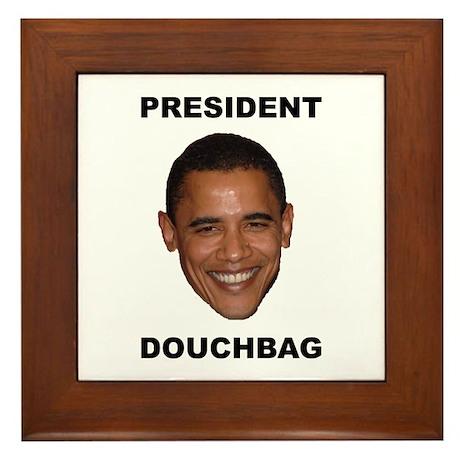 President Douchebag Framed Tile