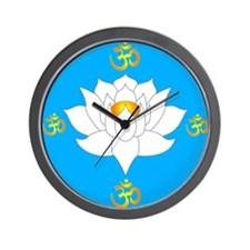 om lotus Wall Clock