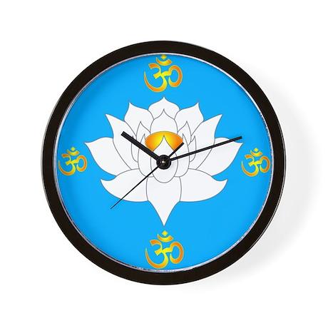 om lotus Wall Clock