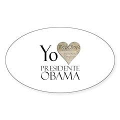 Obama Biden 2008 Oval Sticker (10 pk)