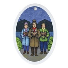 The Carolers Oval Ornament