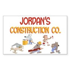 Jordan's Construction Co. Rectangle Decal