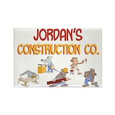 Jordan's Construction Co. Rectangle Magnet