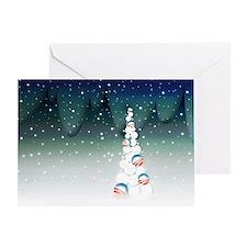 Obama Christmas Tree Greeting Card (Green)