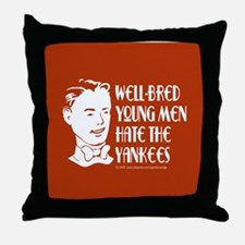 Well-bred... Yankees Throw Pillow