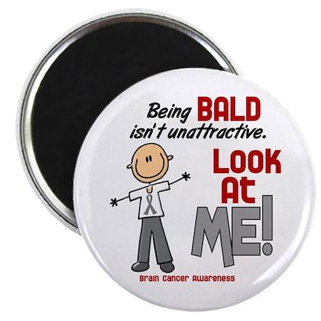 "Bald 2 Brain Cancer (SFT) 2.25"" Magnet (10 pack)"