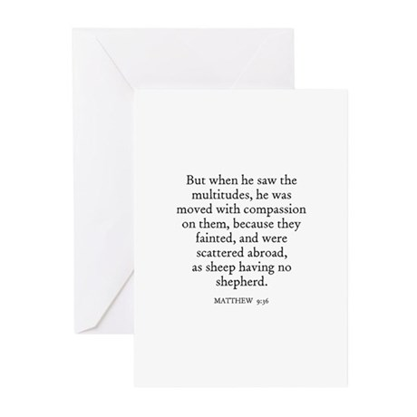 MATTHEW 9:36 Greeting Cards (Pk of 10)