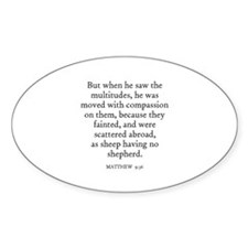 MATTHEW 9:36 Oval Decal