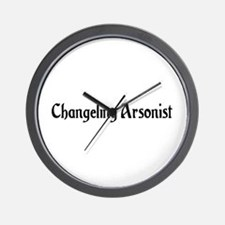 Changeling Arsonist Wall Clock