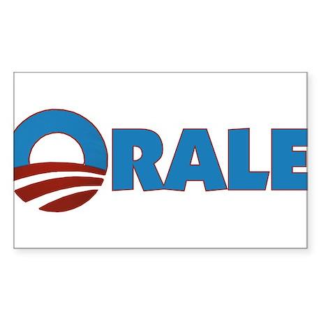 Orale Obama Rectangle Sticker
