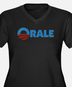 Orale Obama Women's Plus Size V-Neck Dark T-Shirt