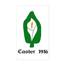 """Easter Lily 1916"" Rectangle Decal"