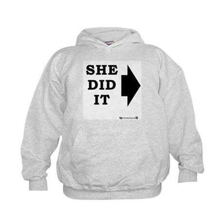 She Did It - RIGHT Kids Hoodie