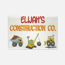Elijah's Construction Tractor Rectangle Magnet