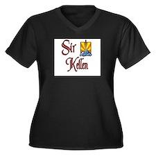 Sir Kellen Women's Plus Size V-Neck Dark T-Shirt