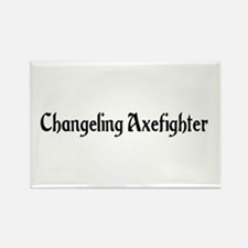 Changeling Axefighter Rectangle Magnet