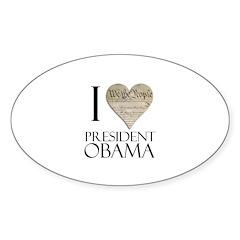Obama Biden 2008 Oval Decal