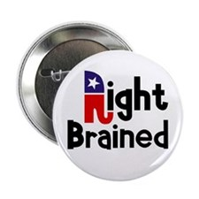 """Right Brained 2.25"""" Button"""