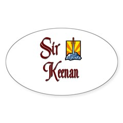 Sir Keenan Oval Decal