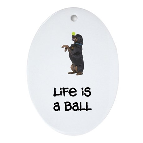 Rottweiler Life Oval Ornament