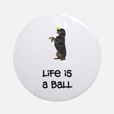 Rottweiler Life Ornament (Round)