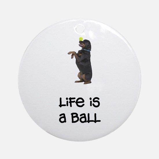 Rottweiler Life Ornament (Round)