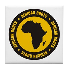 African Roots Tile Coaster