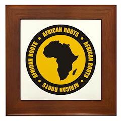 African Roots Framed Tile
