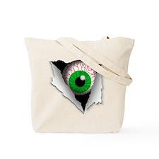 Red Glowing Eyes Tote Bag